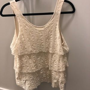 Urban Outfitters Tops - Zip Front Tiered Lace Tank